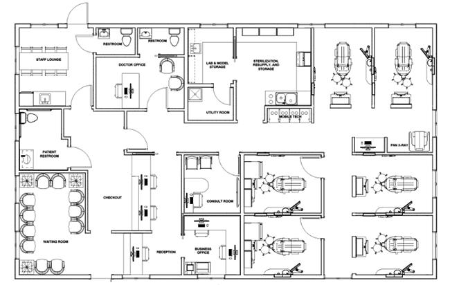 Dr. Chester Clark's floorplan