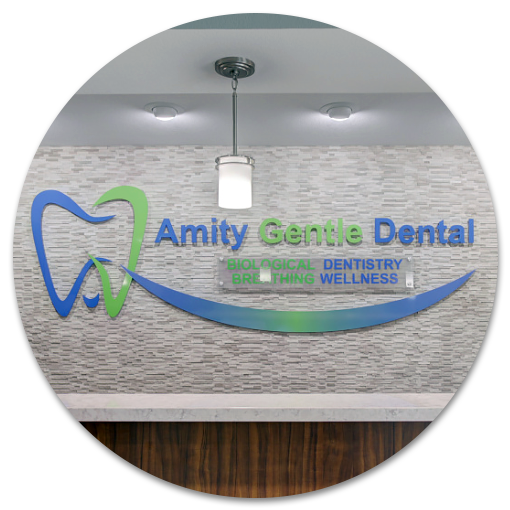 Amity Gentle Dental reception signage