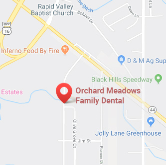 google map image of Orchard Meadows Dental location