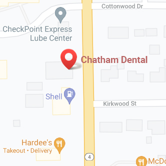 Google map of Chatham Dental