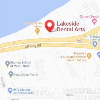 google map of Lakeside Dental Arts