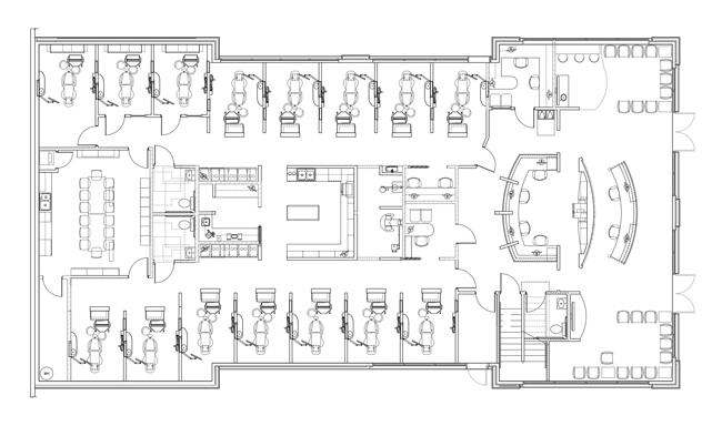 Lake Oconee Dentistry's floorplan