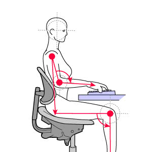 diagram of deep lumbar support posture