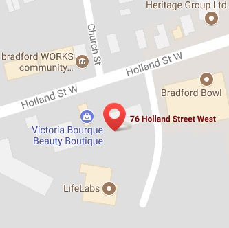 bradford family dental map image
