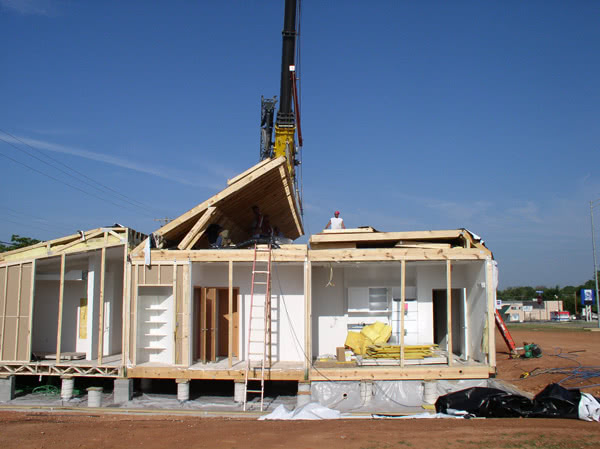 mid construction of a future dental practice