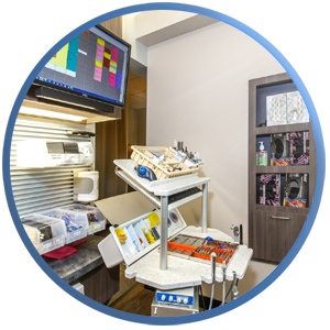 State-of-the-art treatment room furnished with Ergonomic Products equipment